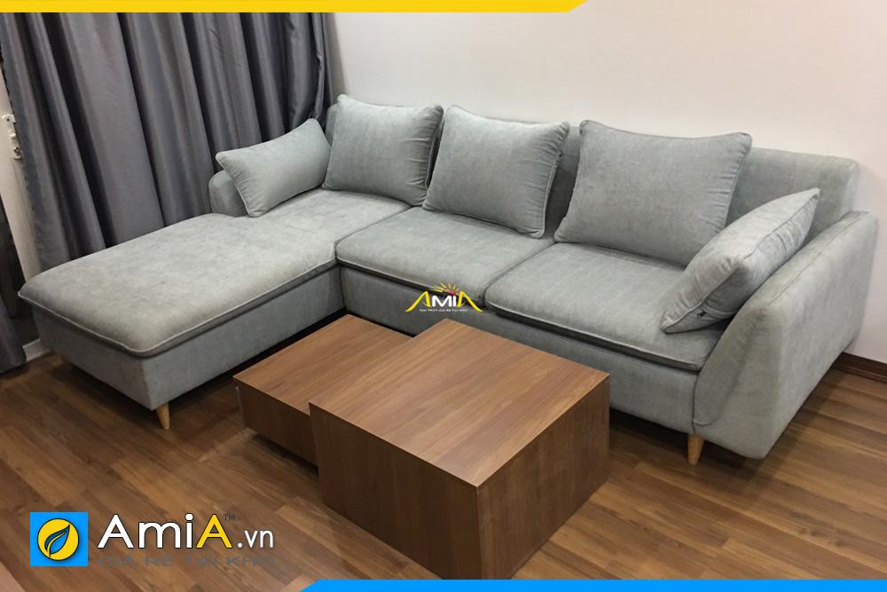 Sofa rẻ đẹp bọc vải nỉ mã AmiA3220