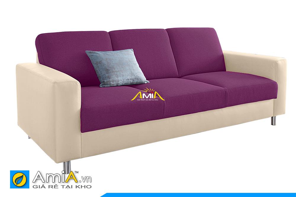 ghế sofa văng đẹp bọc da và nỉ