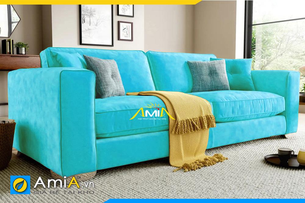 sofa nỉ đẹp màu xanh lam