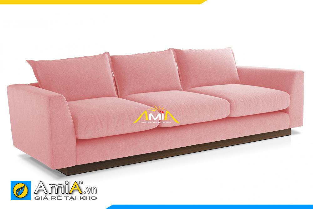 ghế sofa chân thấp màu hồng