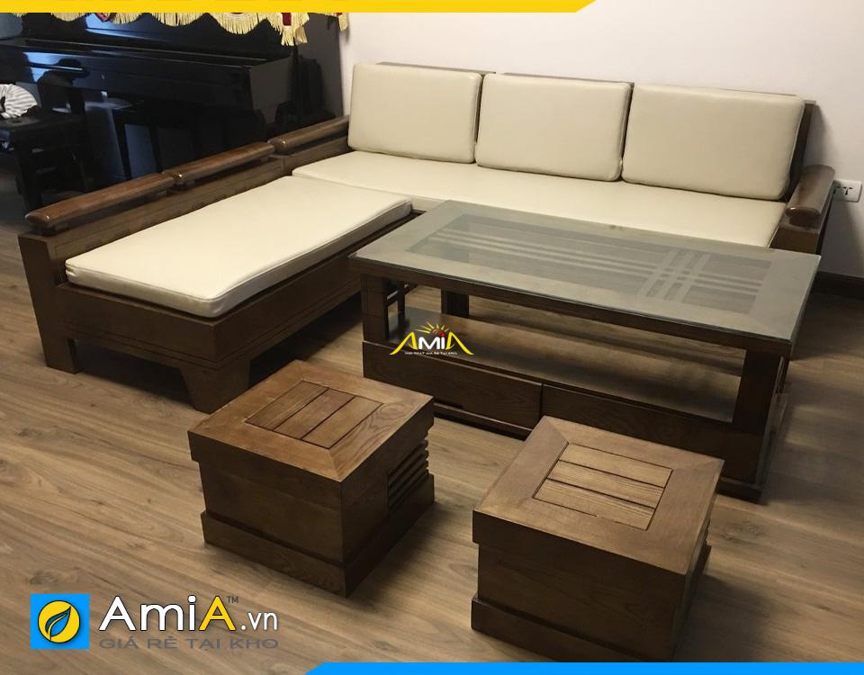 Bàn và ghế sofa chất liệu gỗ đẹp rẻ