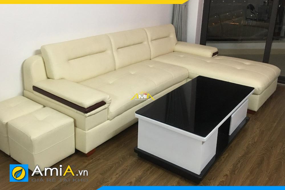 Mẫu ghế sofa góc chất liệu da