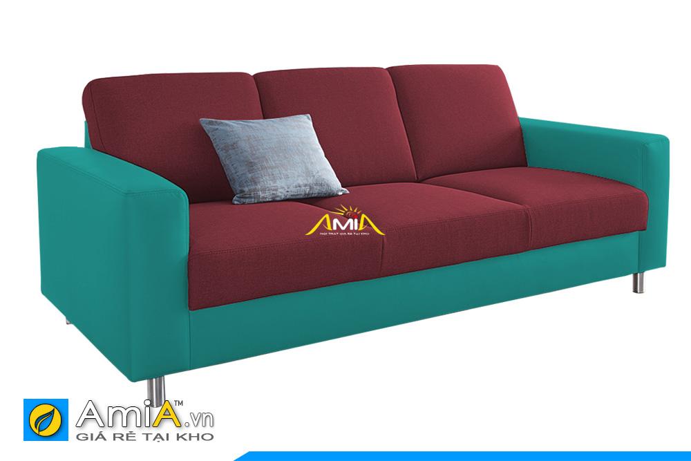 ghế sofa phối màu da với vải nỉ