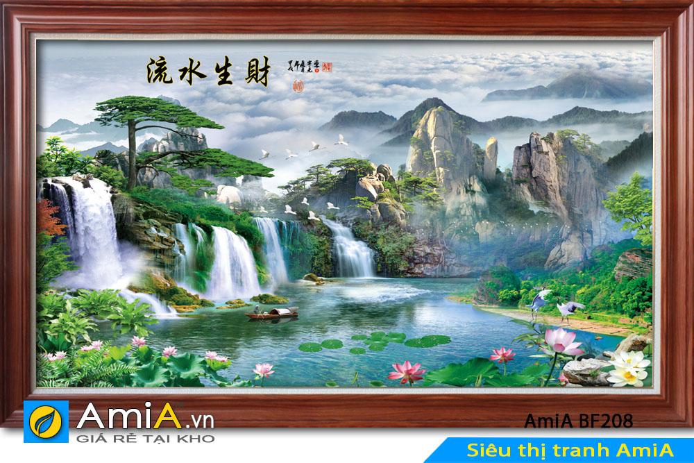 tranh phong cảnh sơn thủy hữu tình đẹp