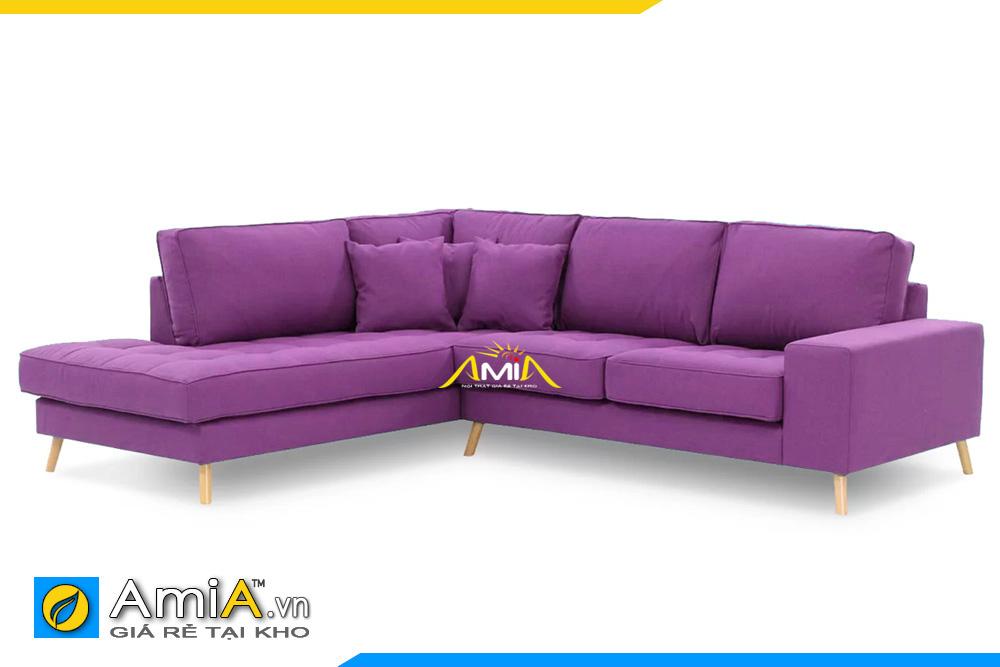 Mẫu ghế sofa nỉ đẹp màu tím AmiA 20139