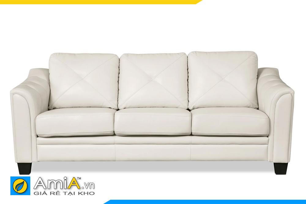 ghế sofa văng đẹp bọc da màu trắng