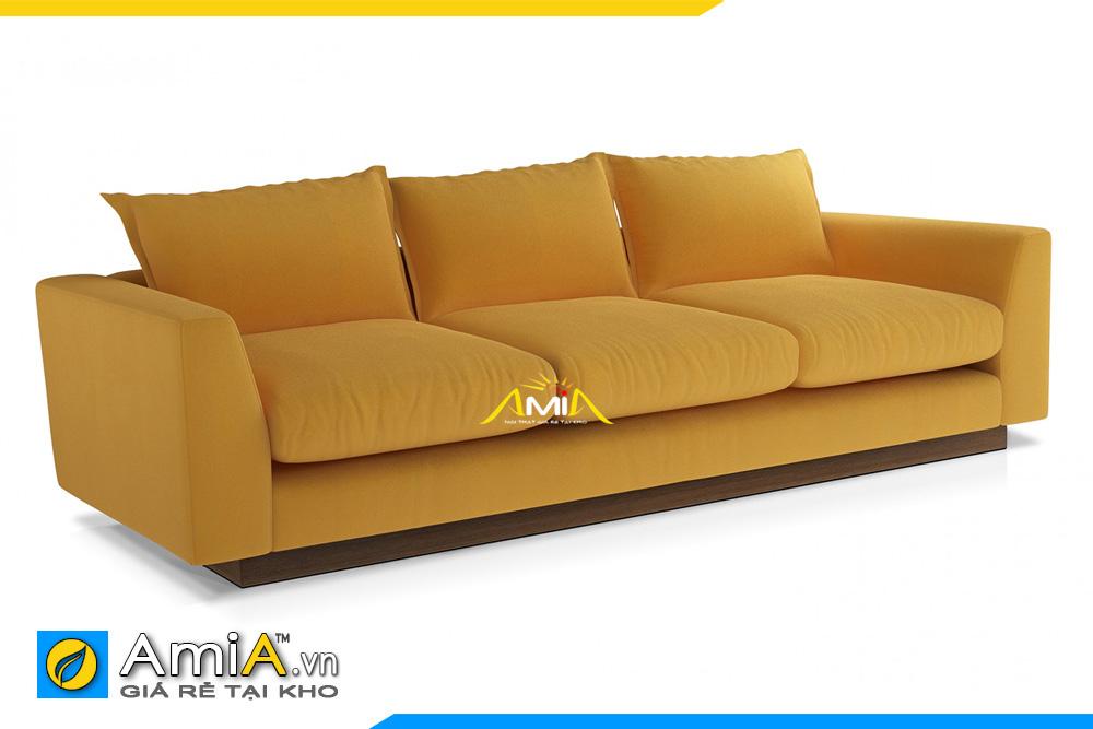 sofa văng nỉ đẹp màu vàng AmiA 20101