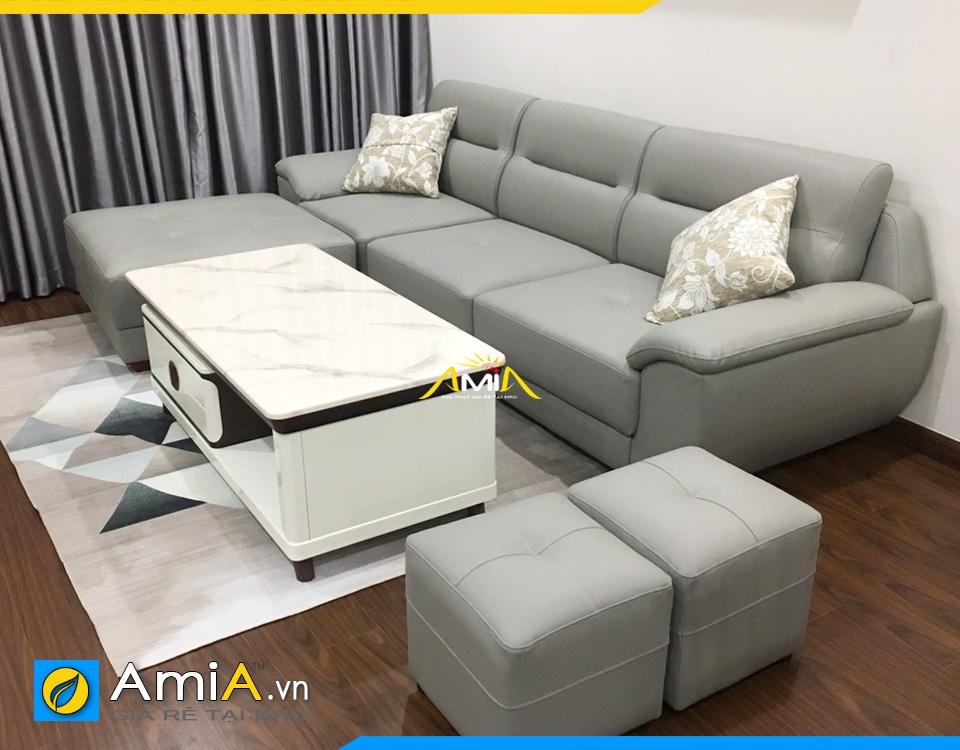 Sofa phòng khách nhỏ bọc da