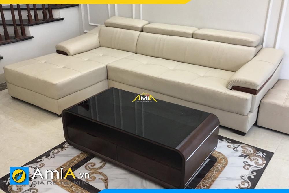 Hình ảnh phòng khách đẹp kê sofa da