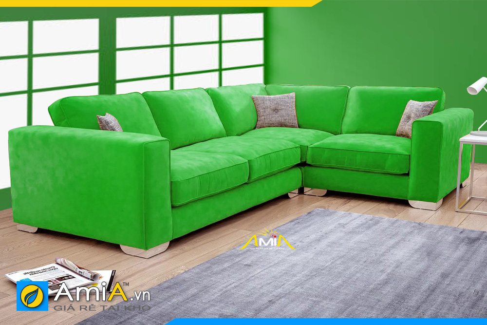 ghế sofa màu xanh lá cây đẹp