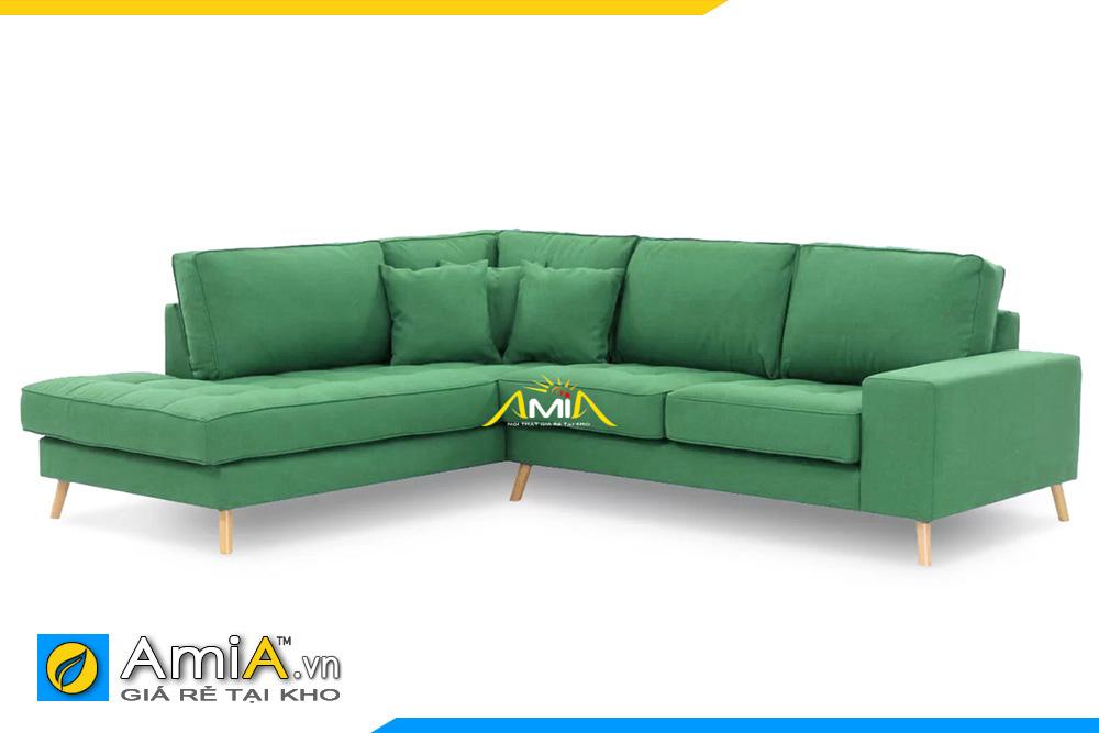 Mẫu ghế sofa góc nỉ xanh lá cây AmiA 20139