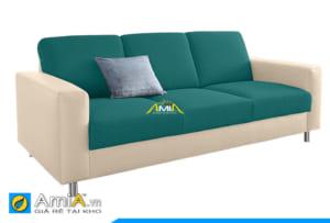 ghế sofa da phối nỉ 2 màu đẹp AmiA 20230