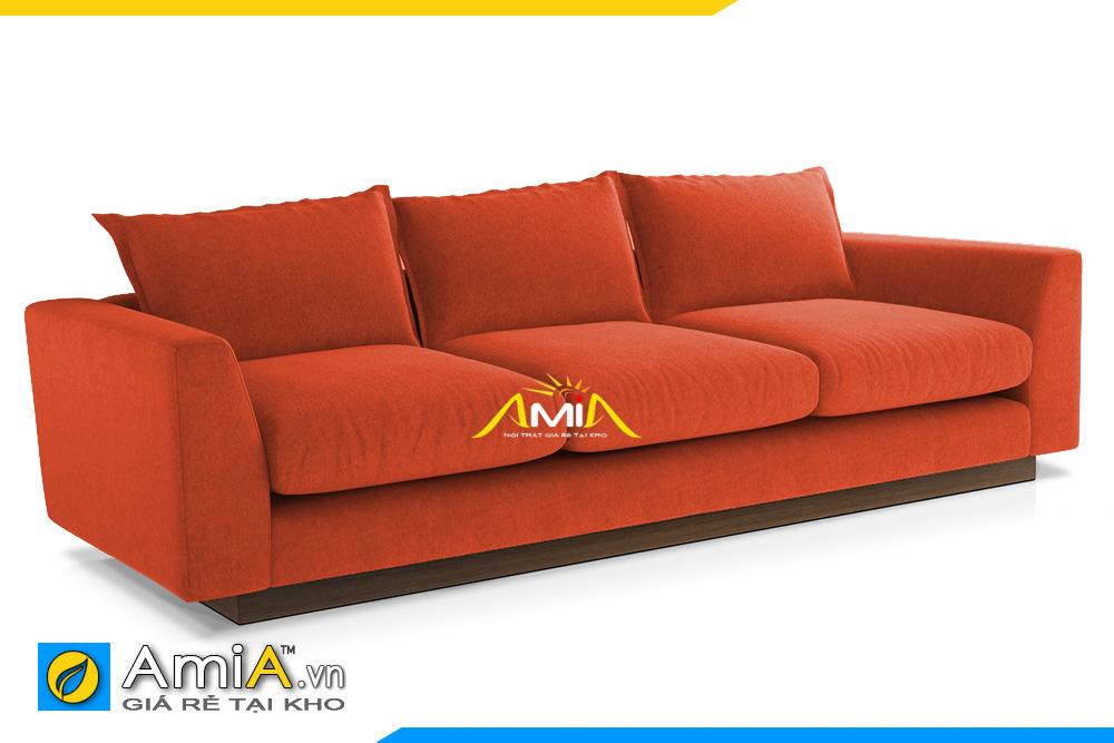 ghế sofa văng nỉ màu cam AmiA 20101