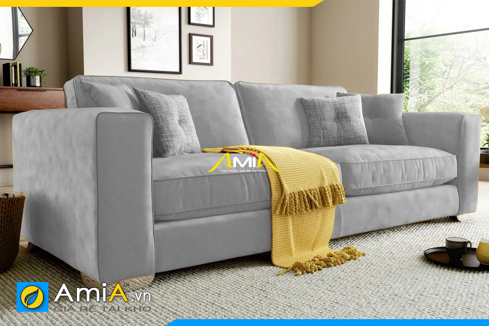sofa văng nhỏ màu ghi sáng