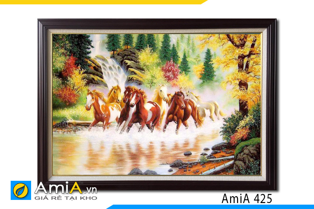 tranh ngựa chạy trên nước ý nghĩa