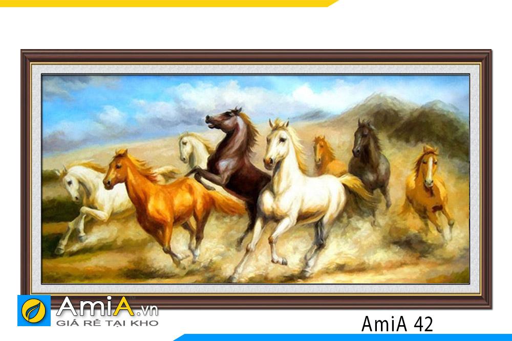 tranh vẽ ngựa phi đẹp nhất