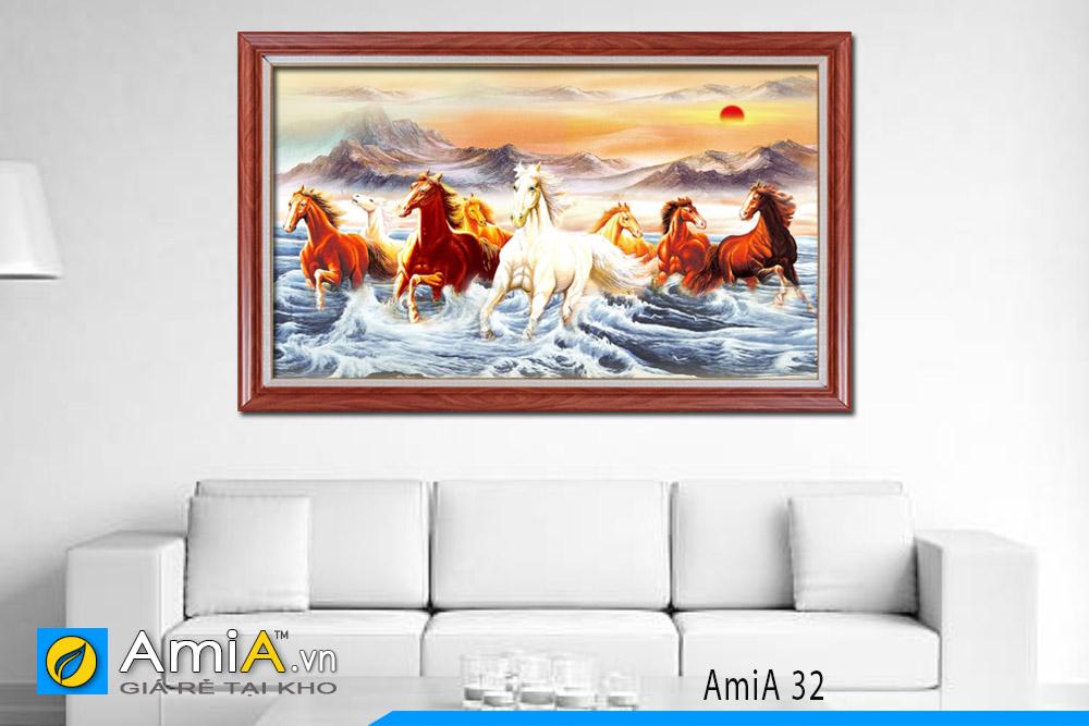 tranh ngựa đẹp in vải canvas