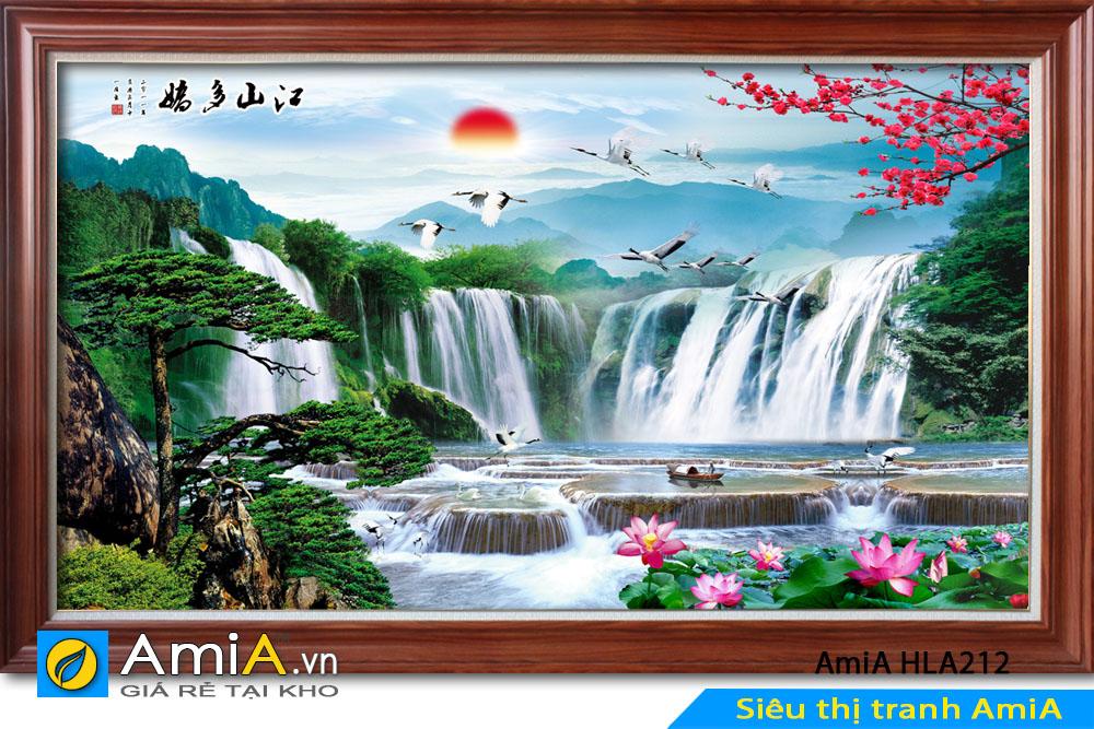 Tranh sơn thủy hữu tình đẹp AmiA HLA212