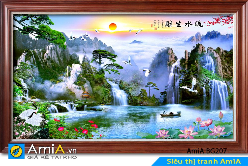 Tranh đẹp phong cảnh sông núi AmiA BG207