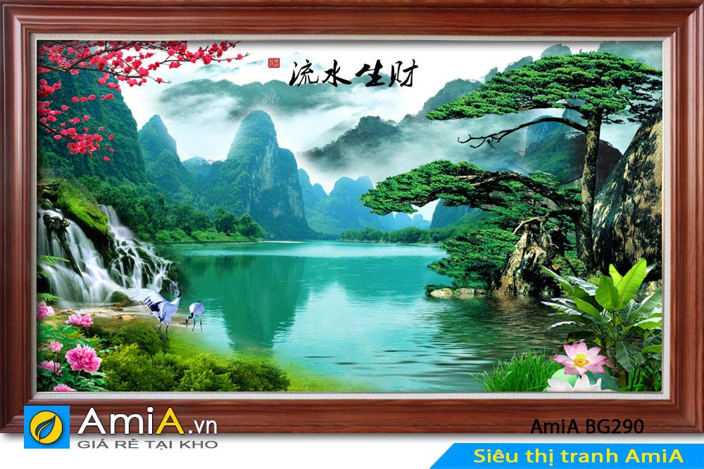 Tranh đẹp phong cảnh thiên nhiên yên bình