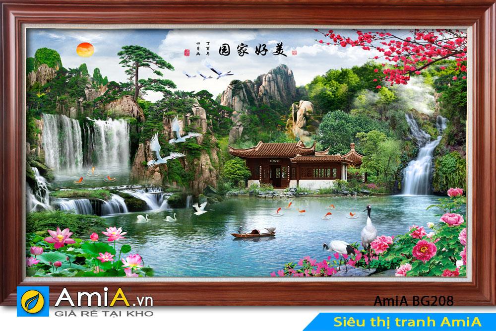 Mẫu tranh phong cảnh thiên nhiên AmiA BG208