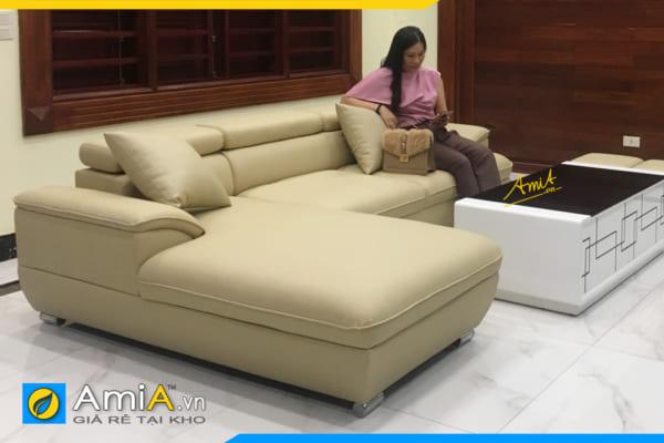 Ghế sofa da kiểu góc rẻ đẹp AmiA 094B