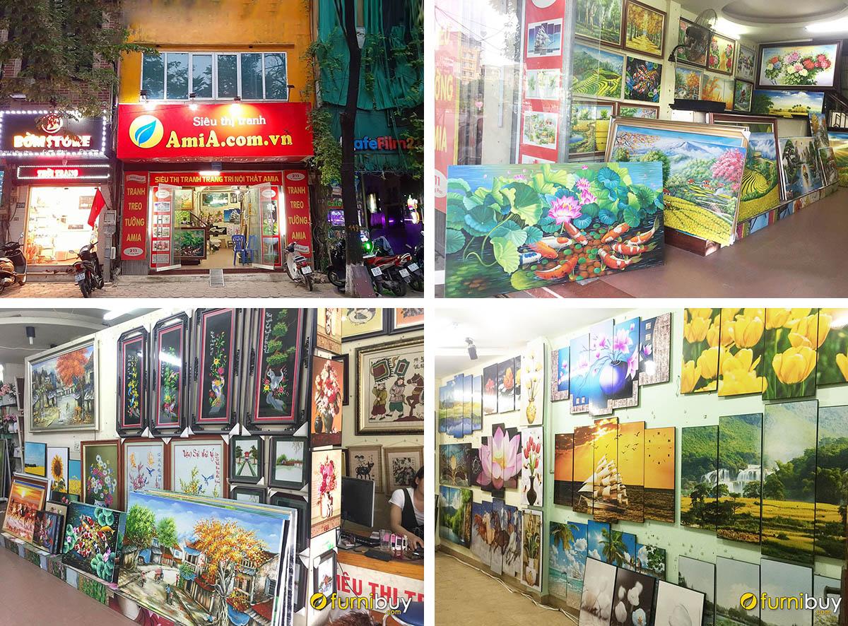 Hình ảnh thực tế cửa hàng tranh treo tường Amia Hà Nội