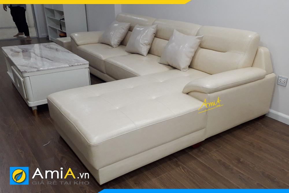 sofa da đẹp rẻ dạng góc L