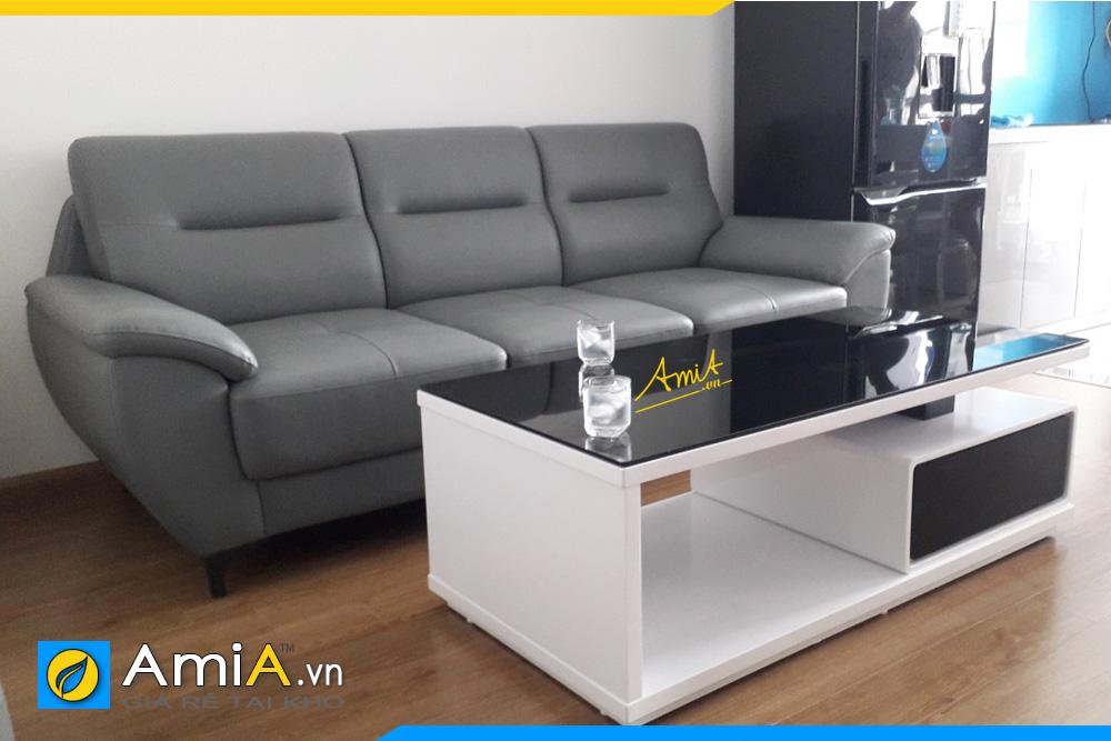 Mẫu sofa văng da nhỏ AmiA 237B