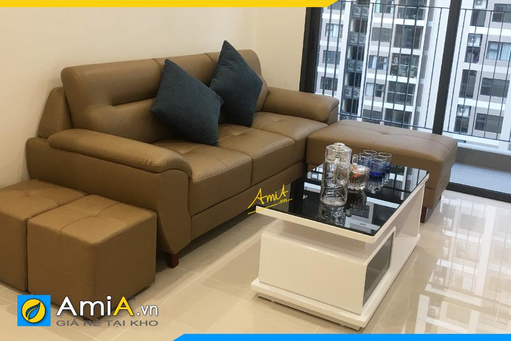 Ghế sofa văng da nhỏ xinh AmiA 237B