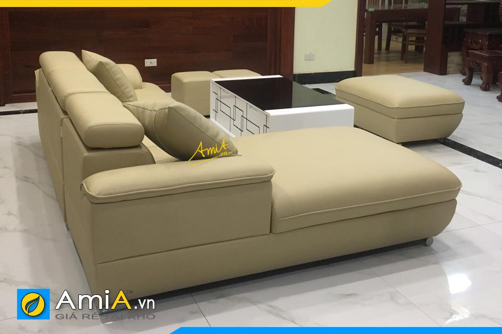 mẫu ghế sofa da kiểu góc