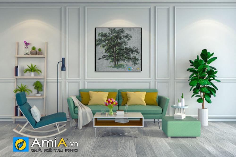Tranh canvas treo tường phòng khách hiện đại AmA CV004