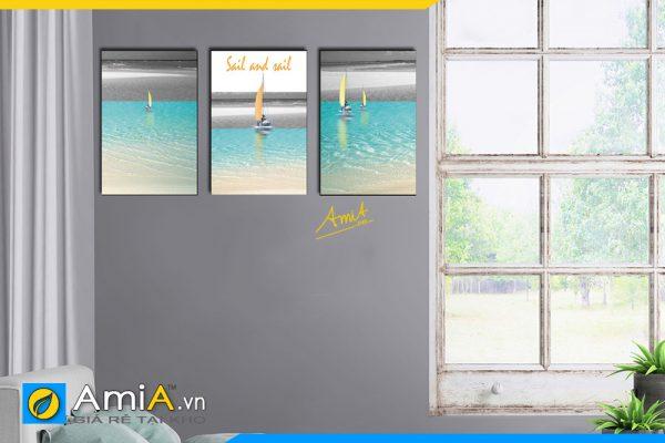 Hình ảnh Tranh phong cảnh biển trang trí phòng ngủ đẹp AmiA 1718