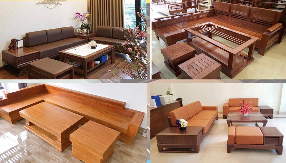 Hình ảnh các mẫu sofa gỗ được làm theo yêu cầu