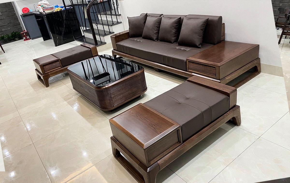 Hình ảnh mẫu sofa gỗ hiện đại được ưa chuộng hiện nay