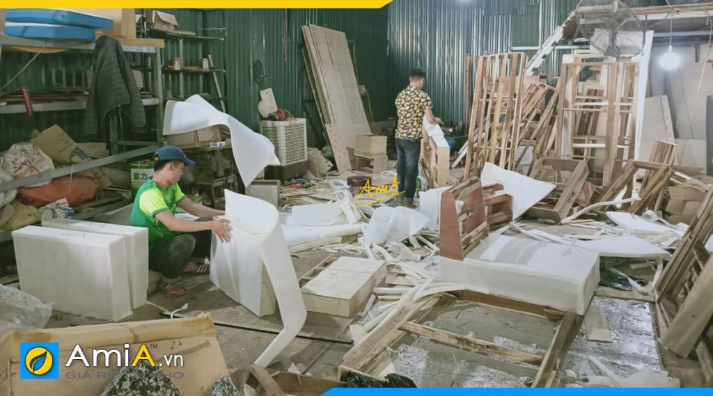 Ảnh xưởng sản xuất sofa