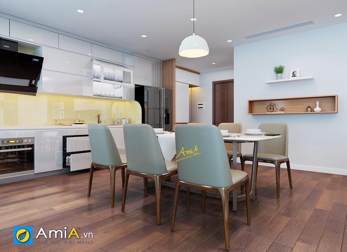 Hình ảnh Bộ bàn ghế ăn đẹp 6 ghế cho phòng bếp nhà chung cư