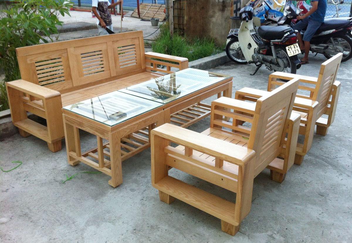 Hình ảnh Bộ bàn ghế gỗ kê phòng khách đẹp hiện đại