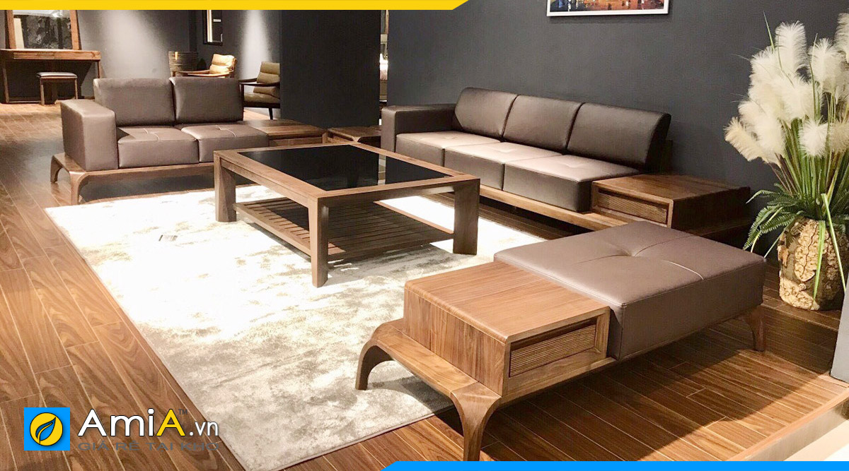 sofa gỗ đẹp phòng khách