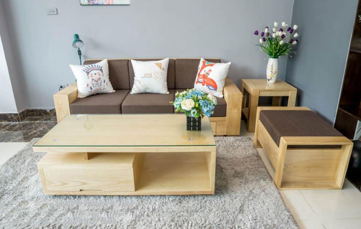 sofa văng gỗ tần bì