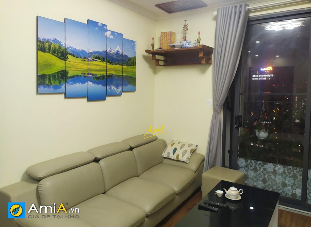 Hình ảnh Bức tranh phong cảnh sơn thủy đẹp ý nghĩa treo nhà chung cư