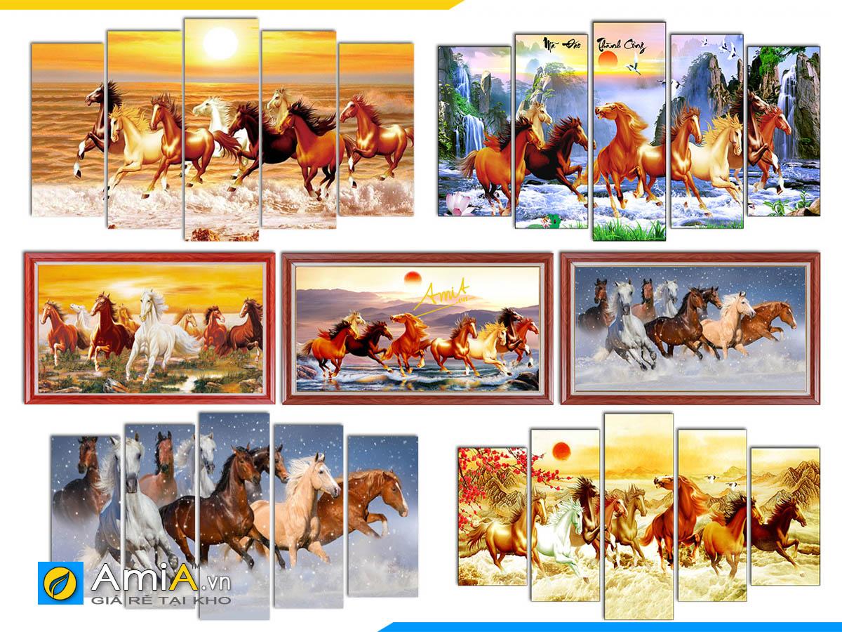 Hình ảnh Các mẫu tranh mã đáo thành công với nhiều thiết kế, nhiều phiên bản khác nhau