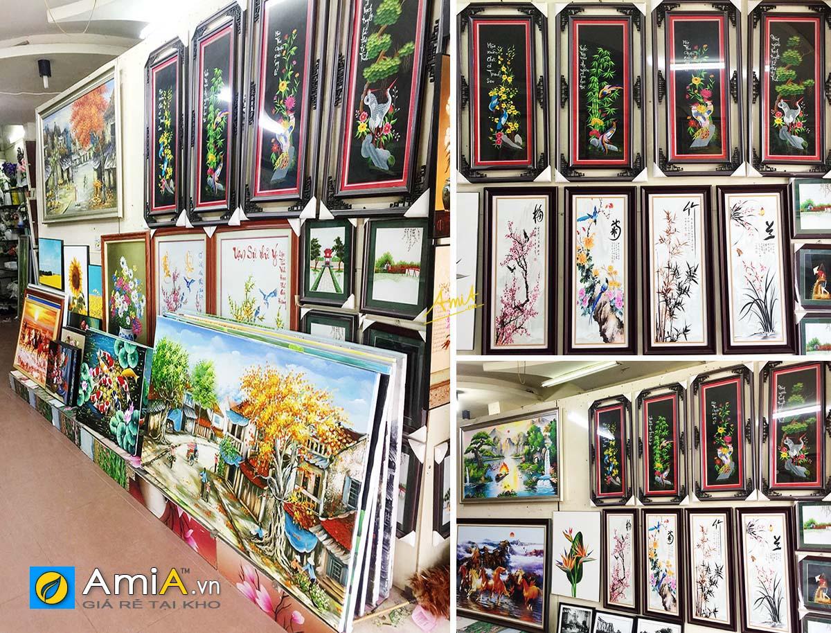Hình ảnh Các mẫu tranh treo tường tứ quý đẹp tại siêu thị tranh AmiA