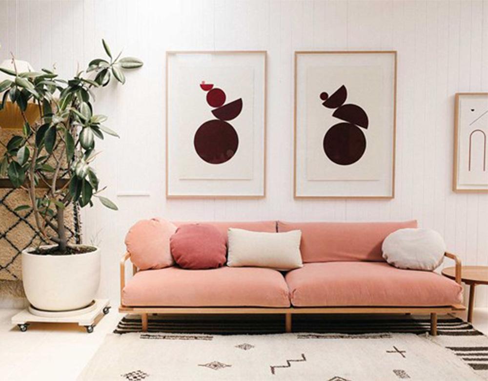 chất liệu ghế sofa văng nỉ hồng