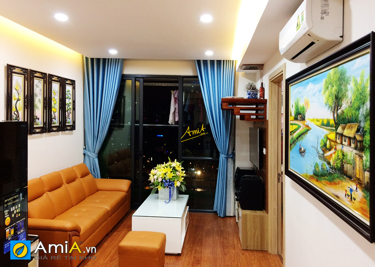 Hình ảnh Combo tranh phòng khách chung cư đẹp sang trọng