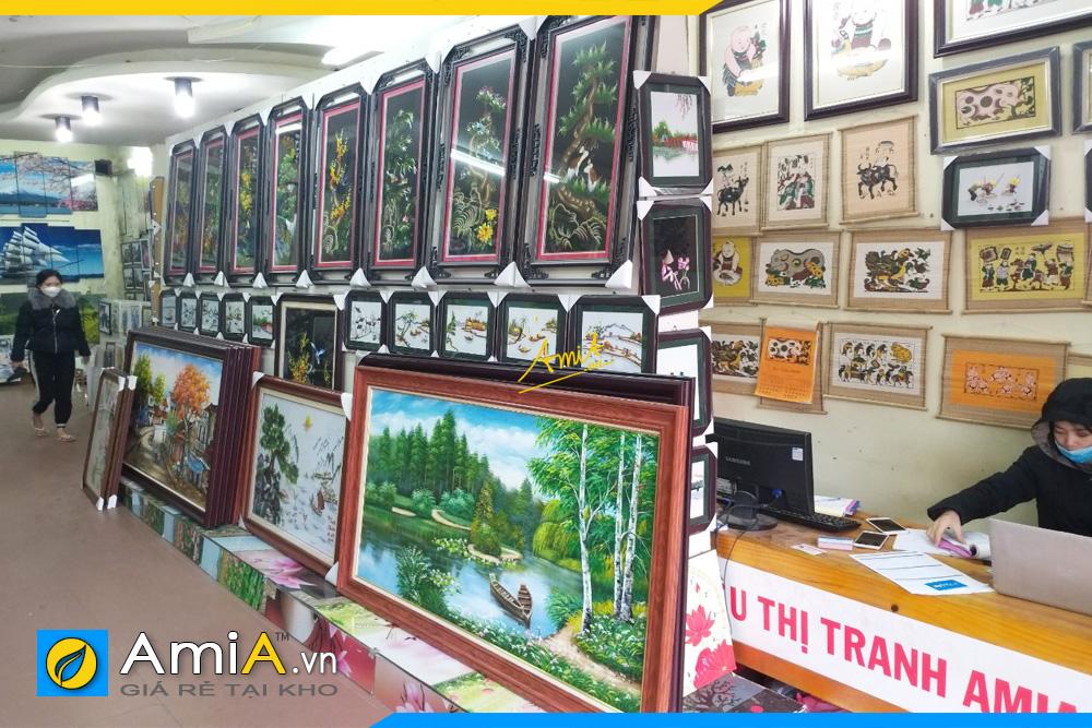 hình ảnh cửa hàng bán tranh treo tường