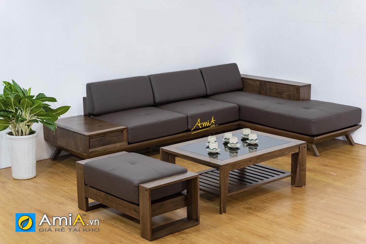 Hình ảnh Ghế sofa góc chữ L đẹp làm theo yêu cầu riêng tại AmiA