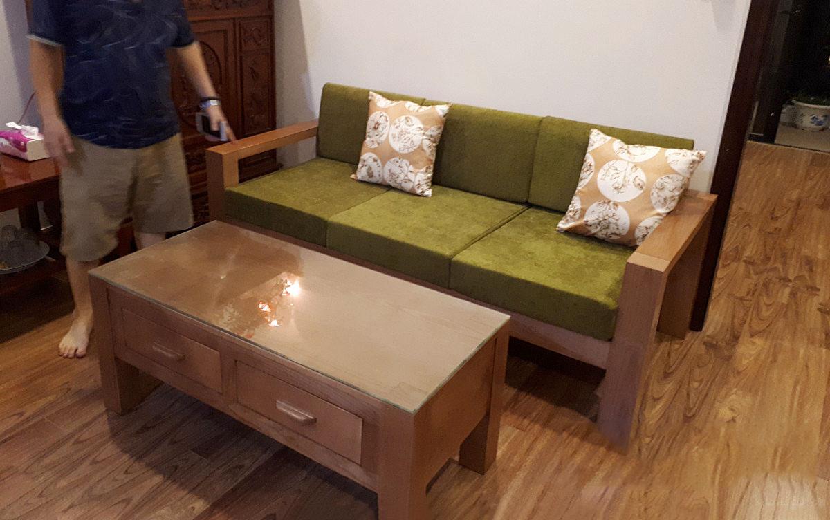 thiết kế sofa gỗ theo yêu cầu khách