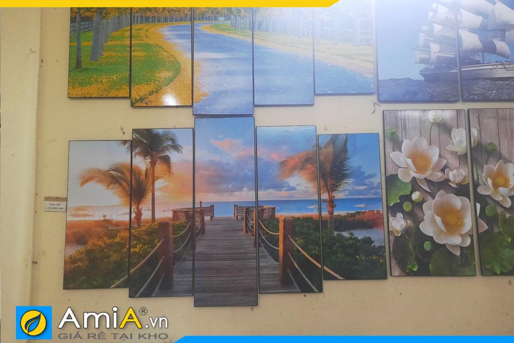 hình ảnh mẫu tranh phong cảnh đẹp bán chạy cây cầu biển được chụp thực tế tại cửa hàng AmiA 1800
