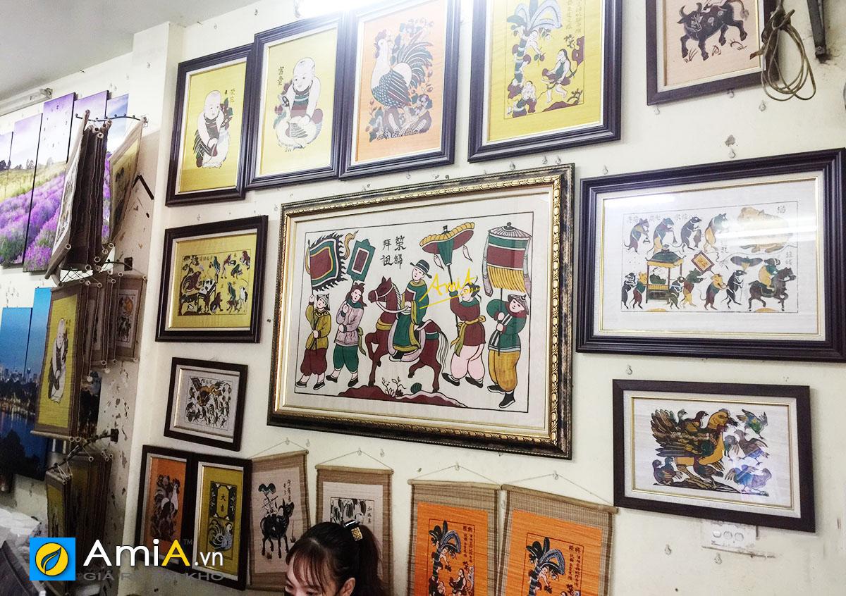 Hình ảnh Khu vực tranh Đông Hồ tại cửa hàng tranh đẹp AmiA